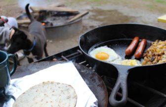 アウトドア朝食